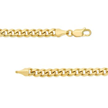 5mm Miami Cuban Link Chain in 14K Yellow Gold