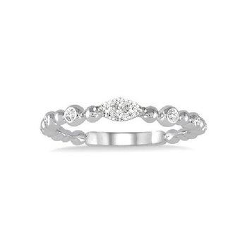 1/8ct tw Diamond Thousand Points of Light Fashion Ring in 14K White Gold