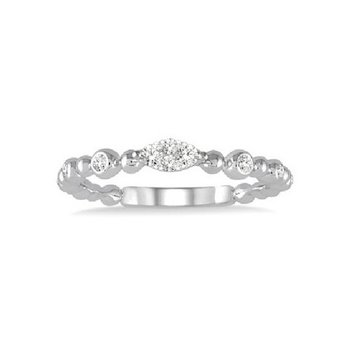 1/8ct tw Diamond Thousand Points of Light Fashion Ring in 14K White Gold