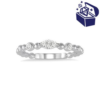 Treasure Hunt Value 1/8ct tw Diamond Thousand Points of Light Fashion Ring in 14K White Gold