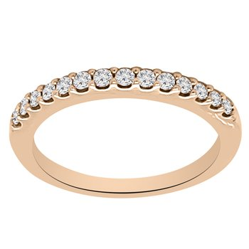 1/5ct tw Diamond Wedding Ring in 14K Rose Gold