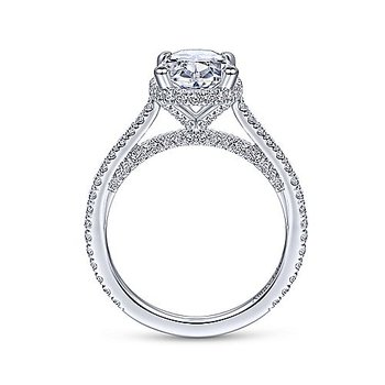 2 3/4ct tw Diamond Engagement Ring in 18K White Gold