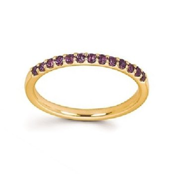 February Brithstone Ring in 14K Yellow Gold
