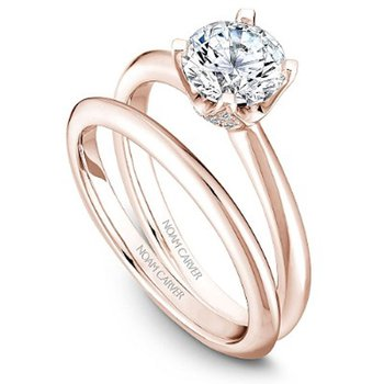1ct tw Diamond Engagement Ring in 14K Rose Gold