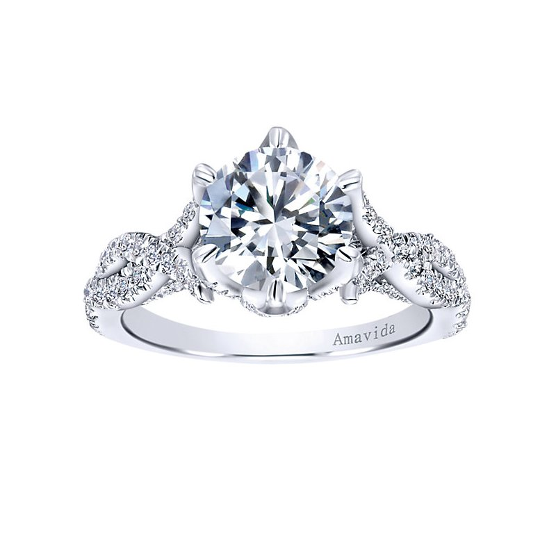2ct tw Diamond Engagement Ring in 18K White Gold