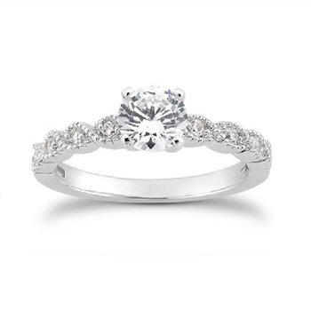 5/8ct tw Diamond Engagement Ring in 14K White Gold
