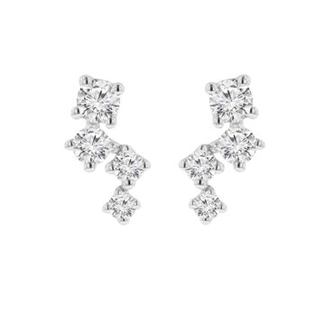 1/8ct tw Diamond Earrings in 14K Yellow Gold