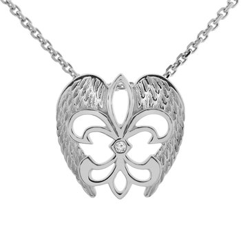 .01ct tw Diamond Rise Up Nola Necklace in Sterling Silver