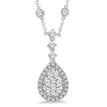 2 1/3ct tw Diamond Thousand Points of Light Necklace in 18K White Gold