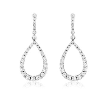 1ct tw Diamond Fashion Earrings in 14K White Gold