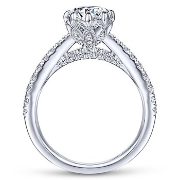 1 1/2ct tw NewBorn Lab Created Diamond Engagement Ring in 14K White Gold