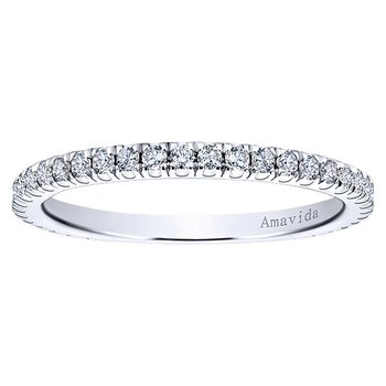 1/3ct tw Diamond Wedding Ring in 18K White Gold