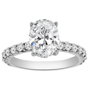 3/4ct tw NewBorn Lab Created Diamondn Engagement Ring Setting in 14K White Gold