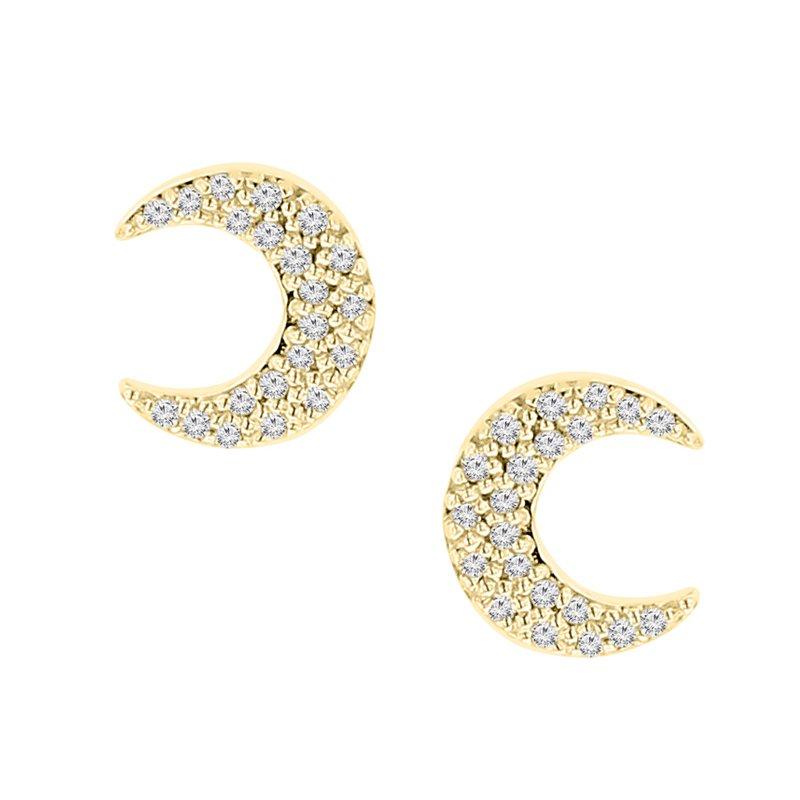 1/5ct tw Diamond Fashion Stud Earrings in 10K Yellow Gold