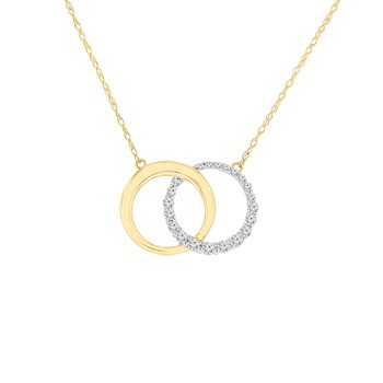 1/5ct tw Diamond Circle Necklace in 10K Yellow Gold