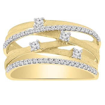 3/8ct tw Diamond Fashion Ring in 14K Yellow Gold