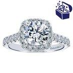 Treasure Hunt Value 5/8ct tw Diamond Halo Engagement Ring Setting in 14K White Gold