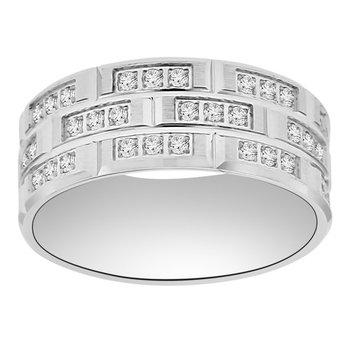 1ct tw Diamond Wedding Ring in 14K White