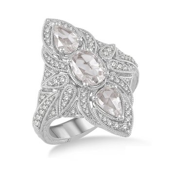 2ct tw Diamond Fashion Ring in 18K White Gold