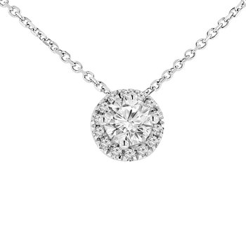 1/2ct tw Diamond Simply Love Necklace in 14K White Gold