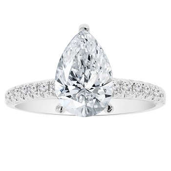 1/3ct tw Daimond Engagement Ring Setting in 14K White Gold