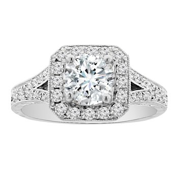 1 1/3ct tw NewBorn Lab Created Diamond Engagement Ring in 14K White Gold