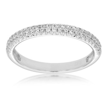 1/4ct tw Diamond Stackable Ring in 14K White Gold