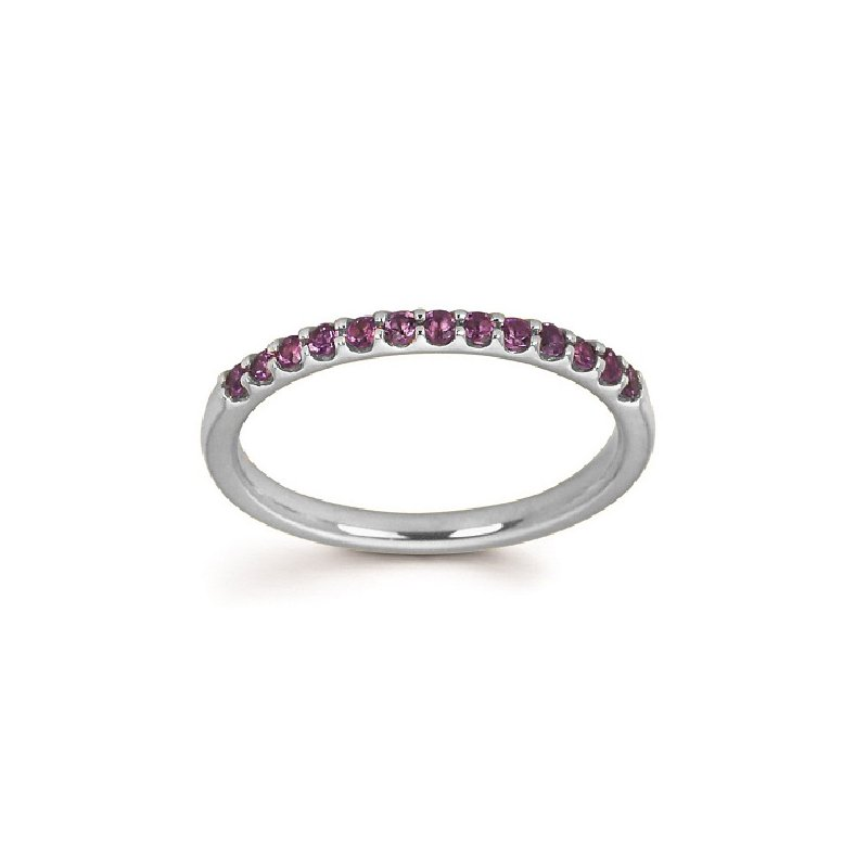 February Brithstone Ring in 14K White Gold