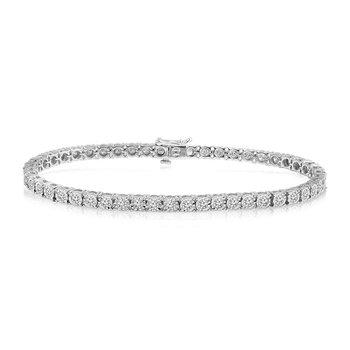 1ct tw Diamond Tennis Bracelet in 10K White Gold