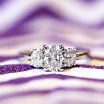 Treasure Hunt Value 1 1/4ct tw Diamond Three Stone Engagement Ring in 19K White Gold