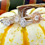 1 1/4ct tw Diamond Three Stone Engagement Ring in 19K White Gold