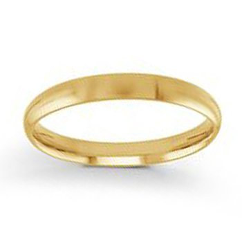 3mm Wedding Ring in 14K Yellow Gold