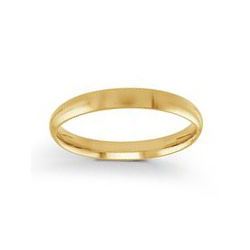 3mm Wedding Ring in 14K Yellow Gold
