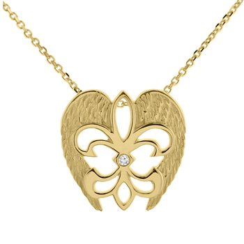 .01ct tw Diamond Rise Up Nola Necklace in 14K Yellow Gold
