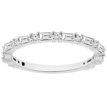 1/2ct tw Diamond Stackable Ring in 14K White Gold