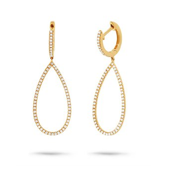 3/8ct tw Diamond Fashion Earrings in 14K Yellow Gold