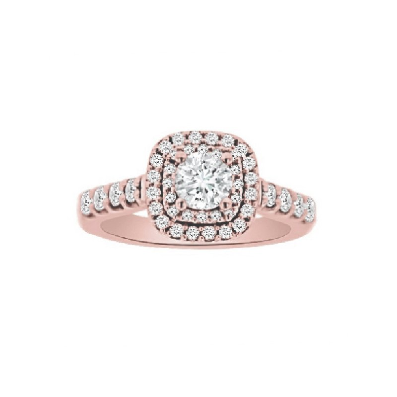 1 1/4ct tw Diamond WOW Engagment Ring in 14K Rose Gold