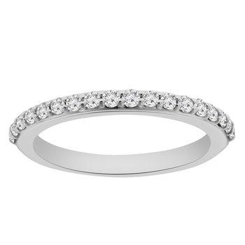 1/3ct tw NewBorn Lab Created Diamond Wedding Ring in 14K White Gold