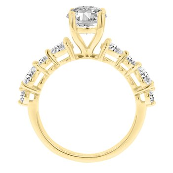 5/8ct tw NewBorn Lab Craeted Diamond Engagement Ring Setting in 14K Yellow Gold