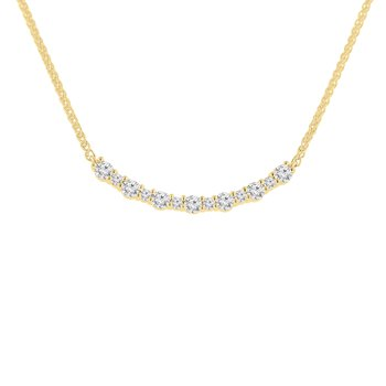 3/4ct tw NewBorn Lab Created Diamond Bar Necklace in 14K Yellow Gold