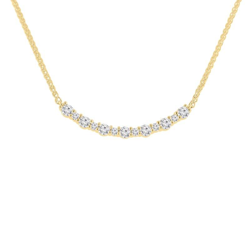 3/4ct tw NewBorn Lab Created Diamond Bar Necklace in 14K Yellow Gold