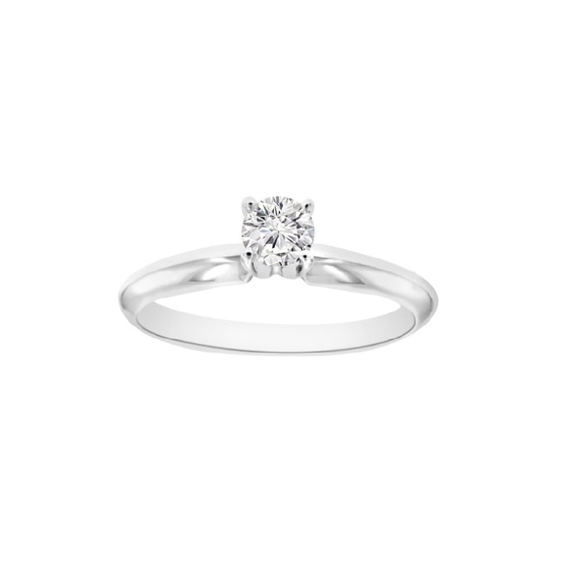 1/4ct Diamond Solitaire Engagement Ring in 14K White Gold