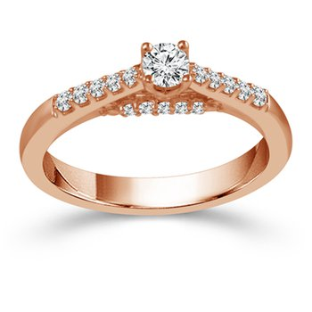 3/8ct tw Diamond Engagement Ring in 10K Rose Gold