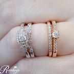 3/8ct tw Diamond Engagement Ring in 10K Rose Gold