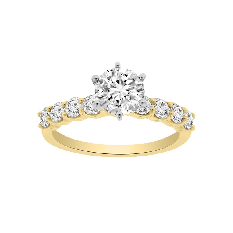 1/3ct tw Diamond Engagement Ring Setting in 14K Yellow Gold