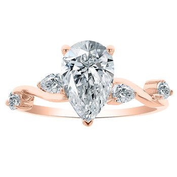 1 7/8ct tw NewBorn Lab Created Diamond Engagement Ring in 14K Rose Gold