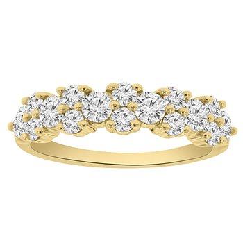 1ct tw NewBorn Lab Created Diamond Anniversary Ring in 14K Yellow Gold
