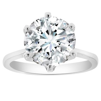 4ct tw NewBorn Lab Created Diamond in 14K White Gold