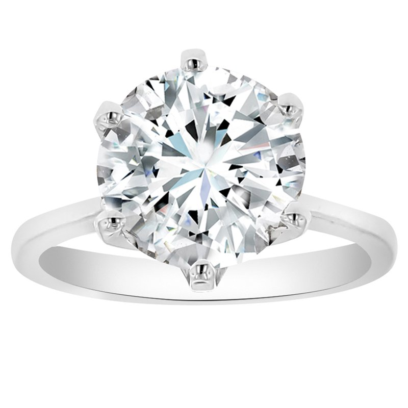 4ct tw NewBorn Lab Created Diamond in 14K White Gold