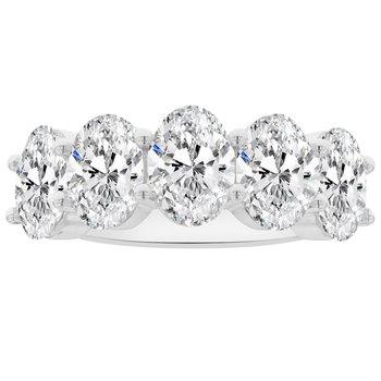 5ct tw NewBorn Lab Created Diamond Ring in 14K White Gold
